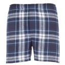 Mens Flannel Boxer #F48CNW - Navy/White