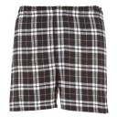 Mens Flannel Boxer #F48BLKW - Black/White