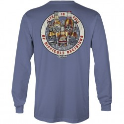 Laidback Long Sleeve T-Shirt - Difficult Decisions