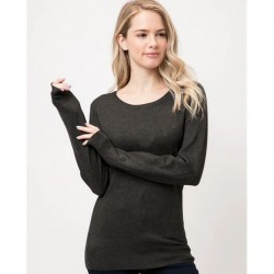 Long Sleeve Pullover Sweater - Charcoal