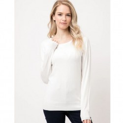 Long Sleeve Pullover Sweater - Ivory