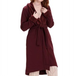Ugg Double Knit Fleece Robe - Wild Grape