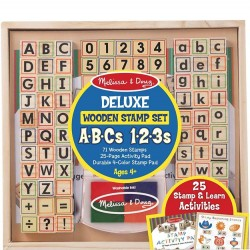 ABC and 123 Deluxe Wood Stamp Set