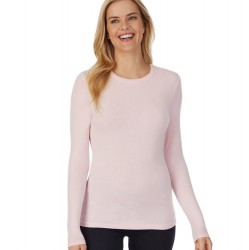 Cuddl Duds Softwear with Stretch Long Sleeve Crew - Slipper Pink
