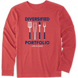 Life is Good Long Sleeve T-Shirt - Diversified in Red
