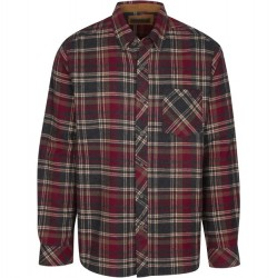 North River Flannel Plaid Shirt - Charcoal