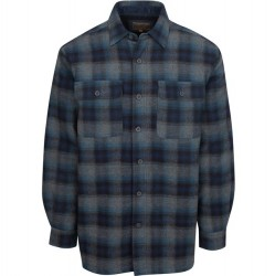 North River Flannel Jacket with Microfleece Lining - Blue Plaid