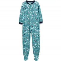 4 to 7 Boys Carters 1-Piece Video Game Fleece PJ