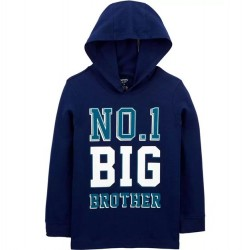 4 to 7 Boys Carters No. 1 Hooded Big Brother Tee