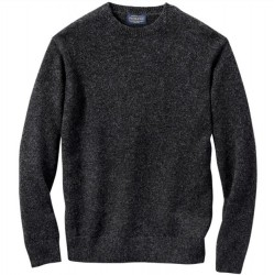 Pendleton Washable Wool Sweater - Black Heather