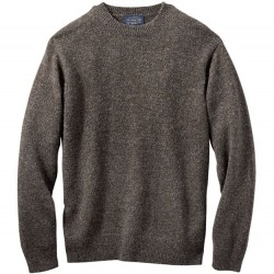 Pendleton Washable Wool Sweater - Dark Brown Mix