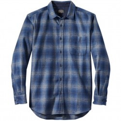 Pendleton Washable Wool Shirt with Round Tail - Blue/Grey Plaid