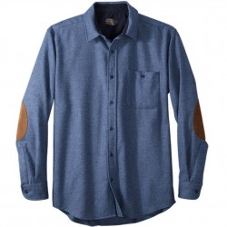 Pendleton Washable Wool Shirt with Round Tail - Blue Mix Solid