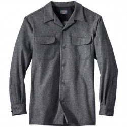 Pendleton Washable Wool Shirt with Straight Hem - Grey Solid
