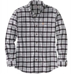 Carhartt Flannel Shirt with 2 Pockets - Black Plaid