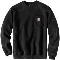 Carhartt Crewneck Sweatshirt with Pocket - Black