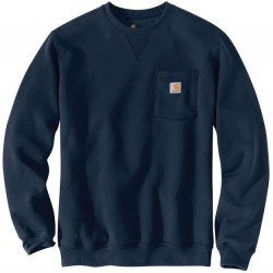 Carhartt Crewneck Sweatshirt with Pocket - Navy