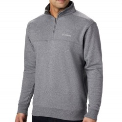 Columbia Half Zip Sueded Fleece Sweatshirt - Charcoal Heather