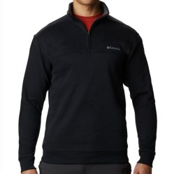 Columbia Half Zip Sueded Fleece Sweatshirt - Black