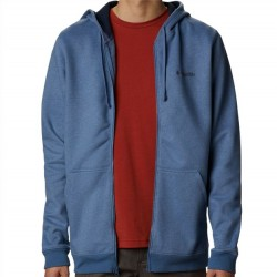 Columbia Sueded Fleece Hooded Sweatshirt - Carbon Blue Heather
