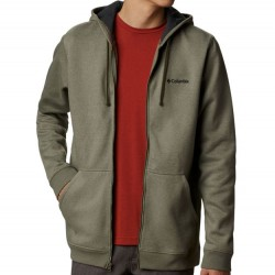Columbia Sueded Fleece Hooded Sweatshirt - Stone Green Heather