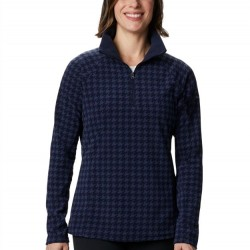 Columbia Glacial Fleece Zip Pullover - Dark Nocturnal Houndstooth