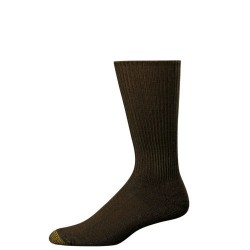 "Gold Toe 3 Pack ""Fluffy"" Dress Socks #523S - BROWN"