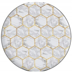 Popsockets Marble Honeycomb PopGrip with Built-In Burt's Bees Original Beeswax Lip Balm