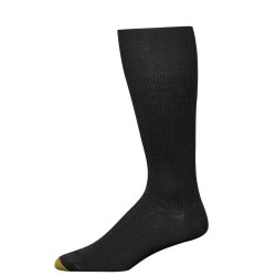 "Gold Toe 3 Pack ""Metropolitan Cotton"" Dress Socks #345S - BLACK"