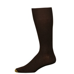 "Gold Toe 3 Pack ""Metropolitan Cotton"" Dress Socks #345S - BROWN"