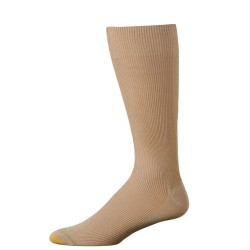 "Gold Toe 3 Pack ""Metropolitan Cotton"" Dress Socks #345S - KHAKI"