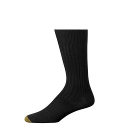 "Gold Toe 3 Pack ""Windsor Wool"" Dress Socks #1446S - BLACK"