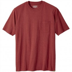 Pendleton Premium Cotton Pocket T-Shirt - Red Heather