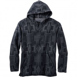 Pendleton Hooded Double Soft Pullover - Black