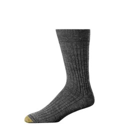 "Gold Toe 3 Pack ""Windsor Wool"" Dress Socks #1446S - CHARCOAL GREY"