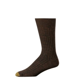 "Gold Toe 3 Pack ""Windsor Wool"" Dress Socks #1446S - BROWN"