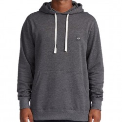 Billabong Organic Cotton Hooded Pullover Sweatshirt - Black