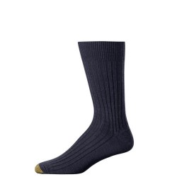 "Gold Toe 3 Pack ""Windsor Wool"" Dress Socks #1446S - NAVY"