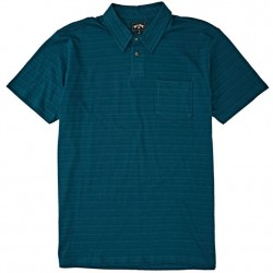 Boys 8 to 20 Billabong Polo Shirt - Pacific Teal Stripe