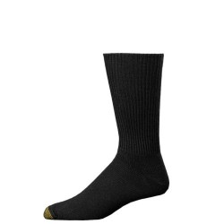 "Gold Toe 3 Pack ""Fluffies Extended"" Dress Socks #523E - BLACK"