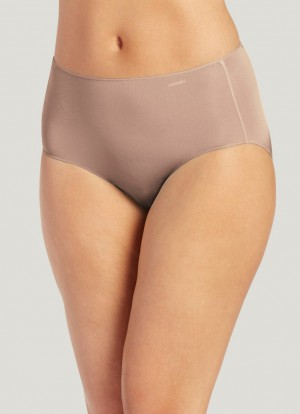 Jockey No Panty Line Promise Nylon Blend Hip Brief Style #1372 - Light Beige