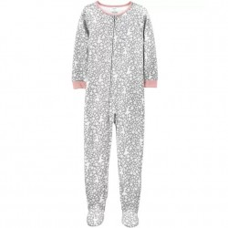 4 to 6X Girls Carters 1 pc Dancer Fleece Footie PJs