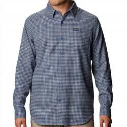 Columbia Flannel Shirt - Blue Stone Grid