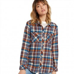 Volcom Stone Wash Relaxed Fit Plaid Flannel
