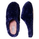 Dearfoams Fuzzy, Cozy Two-Toned Clog Slippers Style #DF338 - Cadet Navy