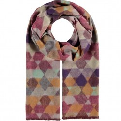 Cashmink Recycled Scarf Geometric - Pink/Lilac