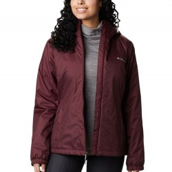Columbia Switchback Sherpa Lined Hooded Jacket - Malbec