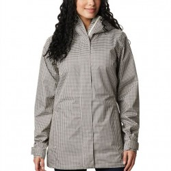 Columbia Splash A Little II Omni Tech Waterproof Hooded Jacket - Chalk Houndstooth