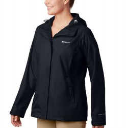 Columbia Arcadia II Hooded Rain Jacket - Black