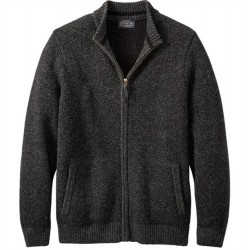 Pendleton Washable Wool Full Zip Sweater - Black Heather